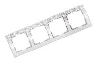 WERKEL FLOCK Рамка на 4 поста (белая) WL05-Frame-04-white