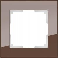 WERKEL FAVORIT Рамка на 1 пост (мокко, стекло)  WL01-Frame-01
