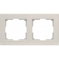 WERKEL STARK Рамка на 2 поста (слоновая кость) WL04-Frame-02