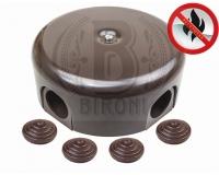 BIRONI бронза пластик выкл. распр. коробка 78мм с загл.