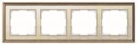 WERKEL Palacio Gracia Рамка на 4 пост (золото/белый)
