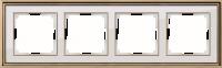 WERKEL Palacio Рамка на 4 поста (бронза/белый)