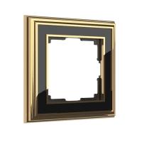 WERKEL Palacio Рамка на 1 пост (золото/черный)
