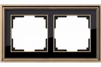 WERKEL Palacio Рамка на 2 поста (золото/черный)
