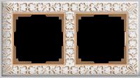 WERKEL ANTIK Рамка на 2 поста (белое золото)