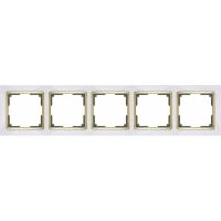 WERKEL SNABB Рамка на 5 постов (белый/золото) WL03-Frame-05