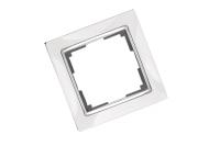 WERKEL SNABB Рамка на 1 пост (белая/хром) WL03-Frame-01