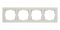 WERKEL STARK Рамка на 4 поста (слоновая кость) WL04-Frame-04