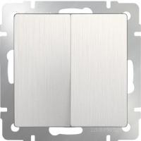 WERKEL Выключатель 2-кл. (перламутр рифленый) WL13-SW-2G