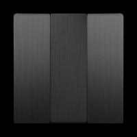 WERKEL Набор клавиш для выключателя 3-кл. (графит рифленый) WL04-SW-3G-CP