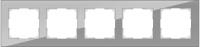 WERKEL FAVORIT Рамка на 5 постов (серый, стекло)