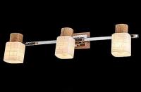 Светильник СПОТЫ - 20029/3 хром/светлое дерево