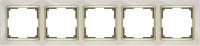 WERKEL SNABB Рамка на 5 постов (слоновая кость/золото) WL03-Frame-05