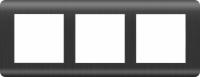 WERKEL Stream Рамка на 3 поста (графит) WL12-Frame-03