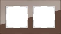 WERKEL FAVORIT Рамка на 2 пост (мокко, стекло)