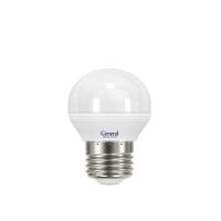 Лампа светодиодная General E27 8Вт шар 4500К 700Лм