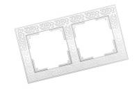 WERKEL FLOCK Рамка на 2 поста (белая) WL05-Frame-02-white