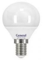 Лампа светодиодная General E14 6Вт G45 2700К РАСПРОДАЖА!