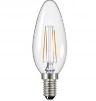Лампа светодиодная General E27 7Вт свеча филаментная прозр. 4500К 540Лм