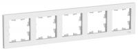 SchE AtlasDesign белый рамка 5мест. универс.